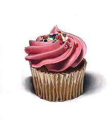 Drawn cake colorful cupcake 3