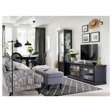 malsjö tv bank schiebetüren schwarz gebeizt 160x48x59 cm