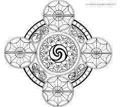 Printable Abstract Coloring Pages Free Mandala Adults