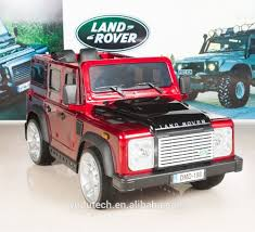 100 Defender Truck Painting Red Land Rover Kids Ride On Car 12v Electric