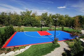 Amazon.com : Versacourt DuraPlay Half Court Basketball Kit Red ... Amazing Ideas Outdoor Basketball Court Cost Best 1000 Images About Interior Exciting Backyard Courts And Home Sport X Waiting For The Kids To Get Gyms Inexpensive Sketball Court Flooring Backyards Appealing 141 Building A Design Lover 8 Best Back Yard Ideas Images On Pinterest Sports Dimeions And Of House