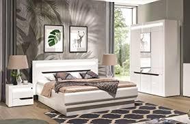 qmm traum moebel schlafzimmer komplett weiß hochglanz iris