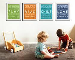 Typography Art Prints For Kids Playroom Wall