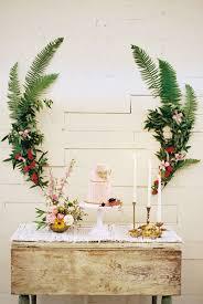 Garden Wedding Cake Table Fern Floral Rustic