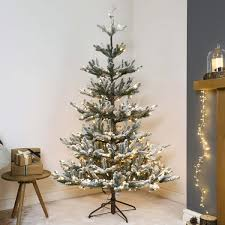 6ft Artificial Christmas Tree With Lights by Pre Lit Green Snow Effect Real Feel Pe Imperial Spruce Artificial