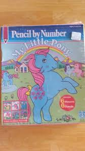 My Little Pony Pencil By Number Kit Vintage 1984 Hasbro Complete
