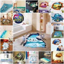 3D Beach Floor Wall Sticker Removable Mural Decals Vinyl Art Life Room Decor AU