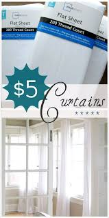 Cafe Style Curtains Walmart by How To Make Curtains Using 5 Sheets From Wal Mart Diy