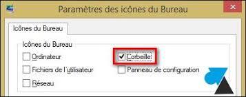 comment installer la corbeille sur le bureau remettre l icône de la corbeille sur le bureau windowsfacile fr