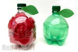 Cute Plastic Bottle Apple Gift Boxes As Teachers Gifts