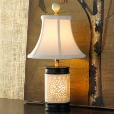 Cream Bone China Mini Table Lamp Shades of Light