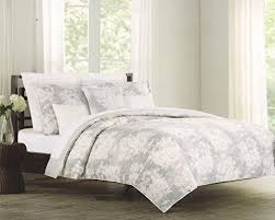 Tahari Bedding Collection by Tahari Home 3pc King Or Queen Duvet Cover Set Grey Taupe Ivory