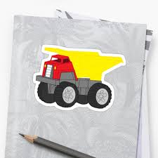 Red And Yellow Dump Truck