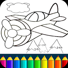 Planes Painting Game Beautiful Coloring Pages