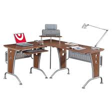 modern l shaped computer workstation mahogany techni mobili target