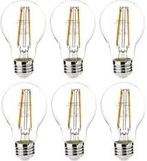 satco products s9252 6 5w a19 clear led medium base