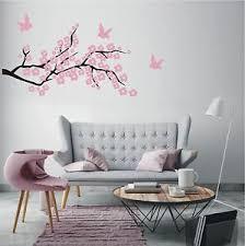 details zu wandtattoo wandaufkleber 2 farbig ast kirschblüte vögel wohnzimmer motiv 350 xl