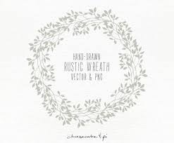 Floral Wreath Hand Drawn Clipart Wedding