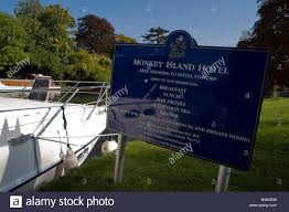 100 Bray Island Monkey Hotel On A Tiny Island On The Thames In Stock