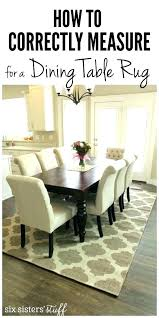Round Dining Room Table Rug Under How To Correctly