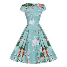 vintage womens 50s 60s retro floral rockabilly pinup housewife