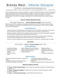 Home Design Exles Interior Design Resume Yerat