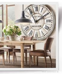 Decorative Large Clock In Dining Room Living Spiration