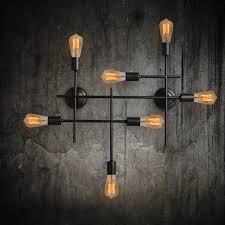 7 light unique black wrought iron industrial wall sconces 38