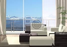 fototapete 3d wohnzimmer mit ausblick