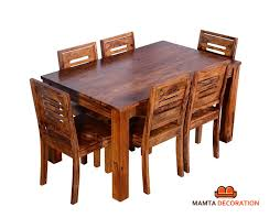 Mamta Decoration Sheesham Wood Wooden Dining Table With 6 Chairs ... Danish Mondern Johannes Norgaard Teak Ding Chairs With Bold Tables And Singapore Sets Originals Table 4 Uldum Feb 17 2019 1960s 6 By Greaves Thomas Mcm Teak Table Niels Moller Chairs Etsy Mid Century By G Plan Round Ding Real 8 Seater Jamaica Set Temple Webster Nisha Fniture Sheesham Wooden Balcony Vintage Of 244003 Vidaxl Nine Piece Massive Chair On Retro