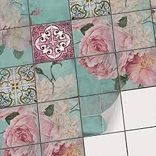 creatisto fliesensticker für bad u küche vinyl fliesen deko i fliesenaufkleber fliesenfolie badezimmer deko bad u küche fliesen mosaik i 10x10 cm
