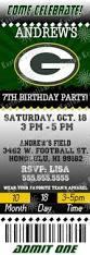 Green Bay Packers Pumpkin Stencil Printable by Nfl Green Bay Packer U0027s Birthday Invitation Kustom Kreations