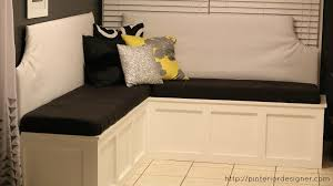 bedroom wonderful banquette corner bench with storage build regard