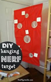 Target Curtain Rods Tension by Diy Hanging Nerf Target This Pilgrim Life