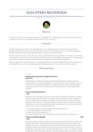Manufacturing Supervisor - Resume Samples & Templates   VisualCV Production Supervisor Resume Examples 95 Food Manufacturing Samples Video Sample Awesome Cover Letter And Velvet Jobs 25 Free Template Styles Rumes Templates Visualcv Inspirational Example New 281413 10 Beautiful Inbound Call Center Unique Gallery