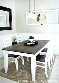 Diy Dining Room Table Ideas Dark Wood And Chairs Enchanting