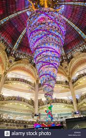 Upside Down Decorated Christmas Tree The Huge Attraction Under Famous Dome At Galleries Lafayette Department