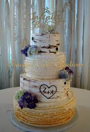 Elegant Rustic Birch Bark Wedding Cake On Central