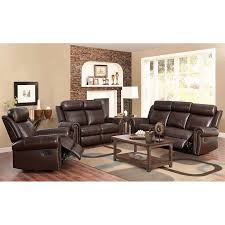 Fairfax 3 piece Top Grain Leather Reclining Living Room Set