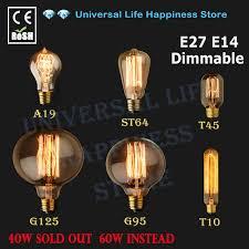 e27 e14 40w 60w vintage edison l light bulb c35 candle