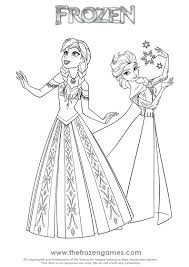 Frozen Coloring Pages Princesses Elsa Let It Go Games Fever Colouring To Print Picture Full