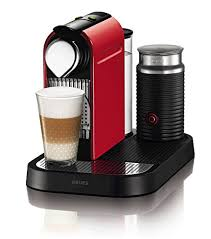 Nespresso Krups CitiZ Milk Fire Engine Red Coffee Machine