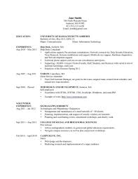 Information Technology Resume Examples Of Resumes 2 2014 Samples 2015 No Experience Curriculum Vitae 20 2016