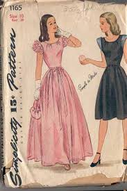 1165 Vintage 1940s Teenage Girls Evening Gown Pattern