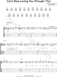 Phil Collins Cant Stop Loving You Though I Try Guitar Tab In C