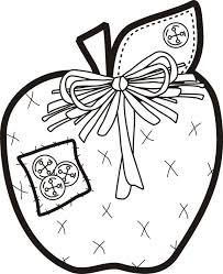 Patchwork Apple Coloring Page
