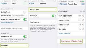Remove Clear safari browsing history in iOS 9 iPhone iPad