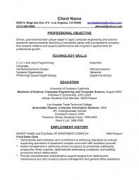 English Resume Example Examples Of Resumes Template