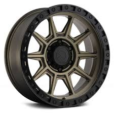 100 16 Inch Truck Wheels ATX Series AX202 Matte Bronze Black Lip X8 Wheel SET INCH