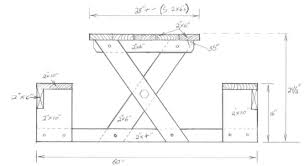 amazing picnic table dimensions ana white picnic table that